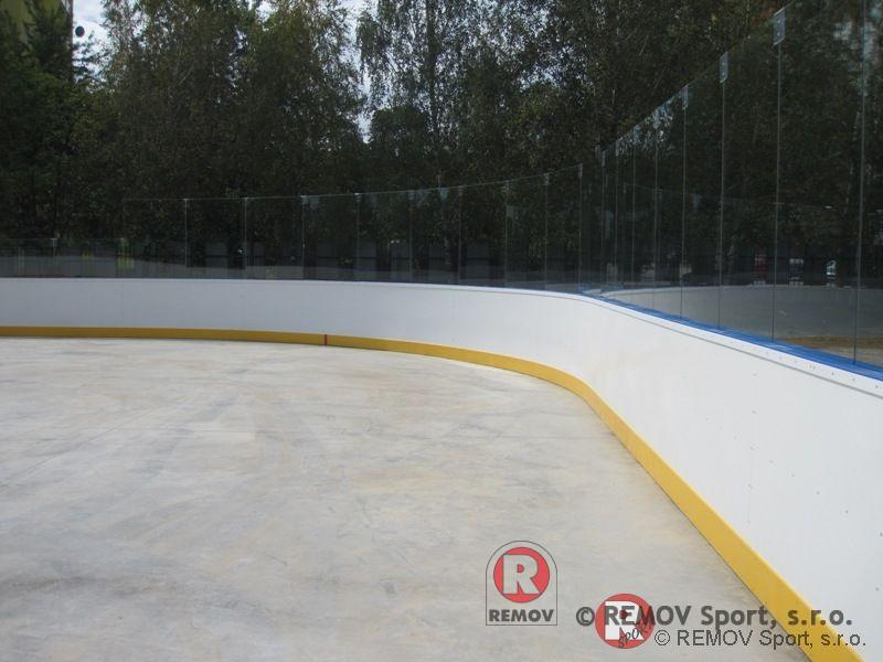 Hokejbalové mantinely EURO HOKEJBAL - skleněná nástavba